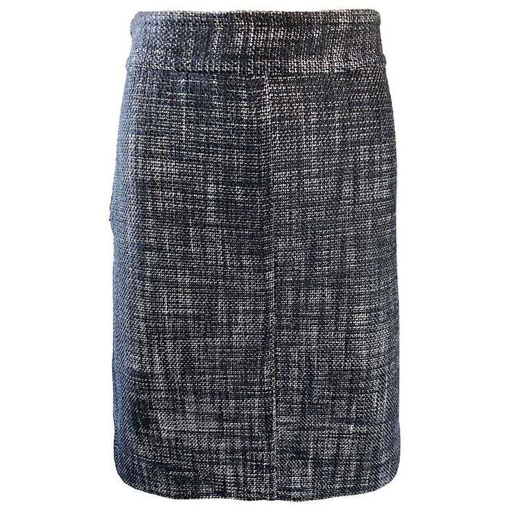 Marc Jacobs Collection Black and White Size 4 / 6 Zipper Detail Pencil Skirt For Sale