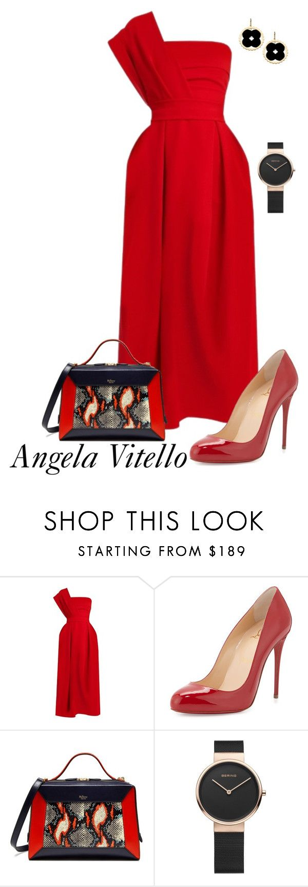 """Untitled #930"" by angela-vitello on Polyvore featuring Preen, Christian Louboutin, Mulberry and Asha by ADM"