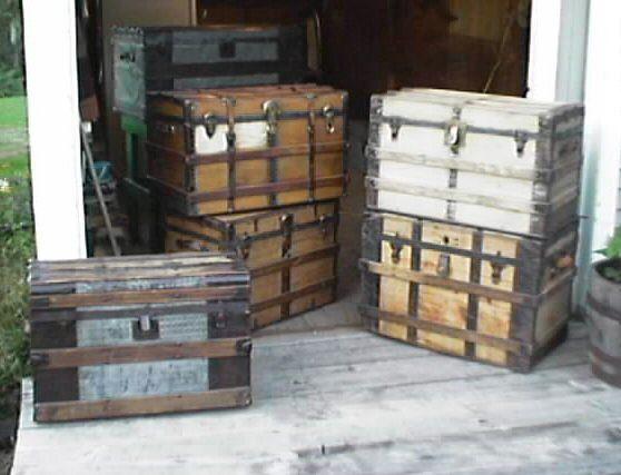 restored antique trunks for sale