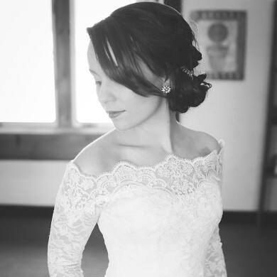 Bridal Off-Shoulder / French Lace wedding jacket/…