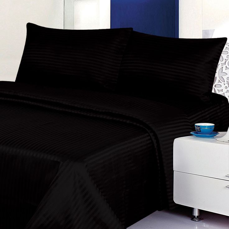 400 thread count black bed sheet free shipping