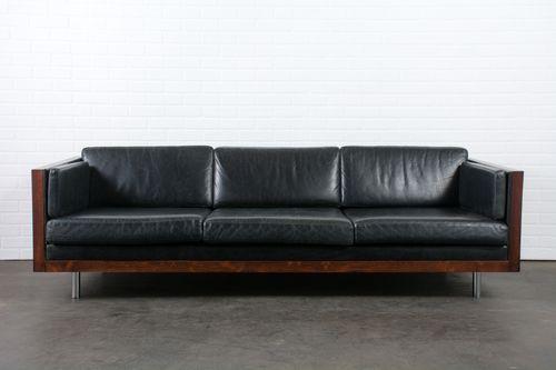 Vintage Rosewood Case Sofa by Milo Baughman