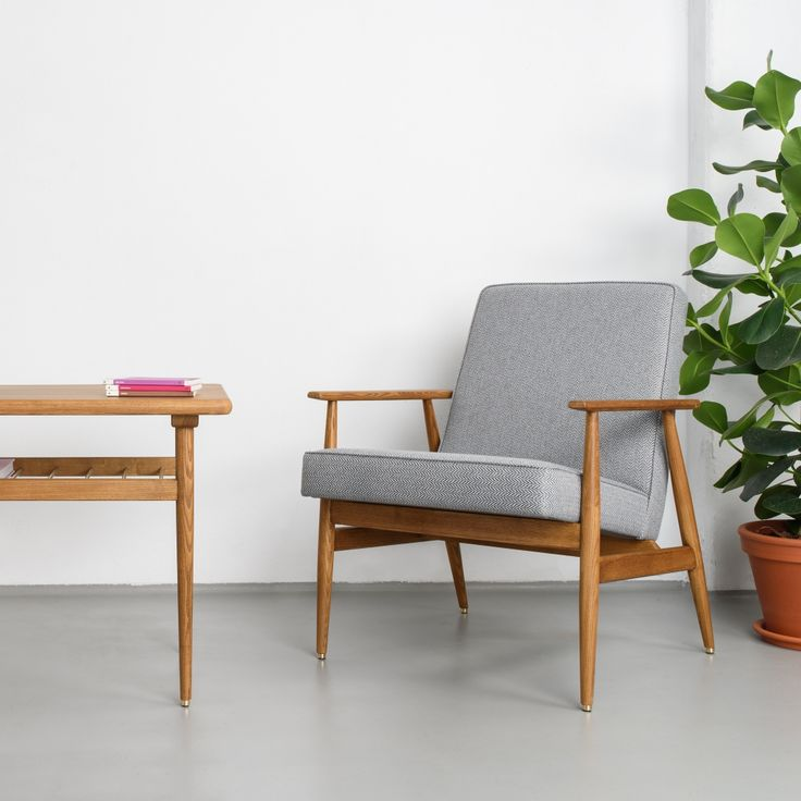 Fox Armchair, one of the most comfortable iconic seat of Polish mid-century design. Reissued by 366 Concept in 2016. <br><br> - Authentic design. <br> - Safe and eco-friendly water-based varnishes and glues.<br> - Only top quality solid wood.<br> NOTE: Wood colour visible in product pictures - Dark Oak. Please see the other available wood colours in the picture gallery.