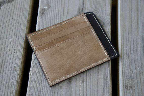 Check out this item in my Etsy shop https://www.etsy.com/nl/listing/295181025/minimalist-leather-wallet-cardholder