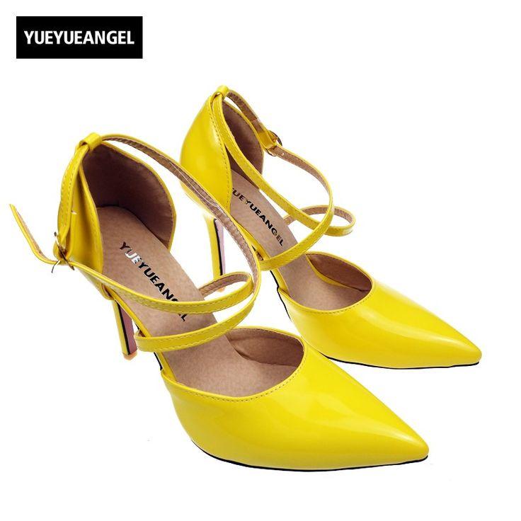 Femmes Tribunal Chaussures Cheville Pointu Doigt de pied Stylet Haute Talons Noir Mode Robe Fête Pompes Grand Taille 35-45 , Green , EUR 40/ UK 7