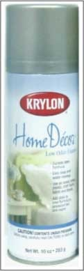 Krylon Home Decor Latex Spray  Durable, low odour latex formula. Easy soap and water clean up. Use on wood, metal, plastic, craft foam, fabric and florals. Adds style to furniture, accessories and more.