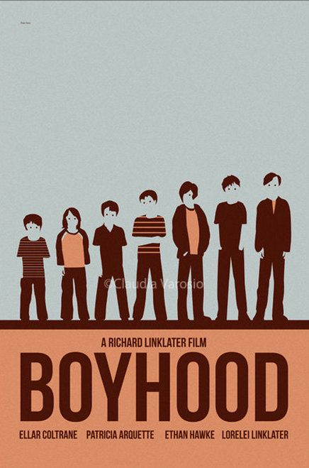 Movie poster Boyhood 12x18 inches print by ClaudiaVarosio on Etsy