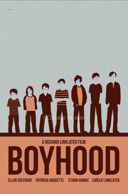 Movie poster Boyhood 12x18 inches print by ClaudiaVarosio on Etsy