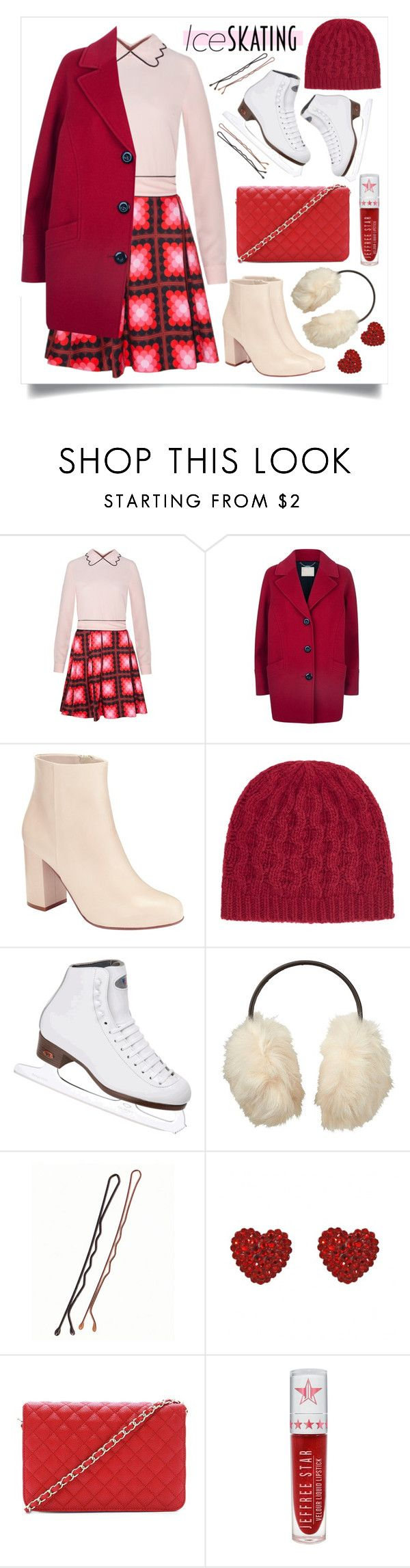 """""""So Cute: Ice Skating Style"""" by alaria ❤ liked on Polyvore featuring Sister Jane, Windsmoor, Kin by John Lewis, John Lewis, Riedell, Uniqlo, Tarina Tarantino, Forever 21, Jeffree Star and women's clothing"""