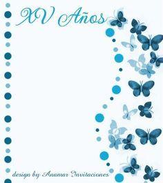 Anamar Invitaciones: Fondo Mariposas