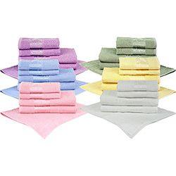 Jogo toalhas São Carlos Floral 5 peças