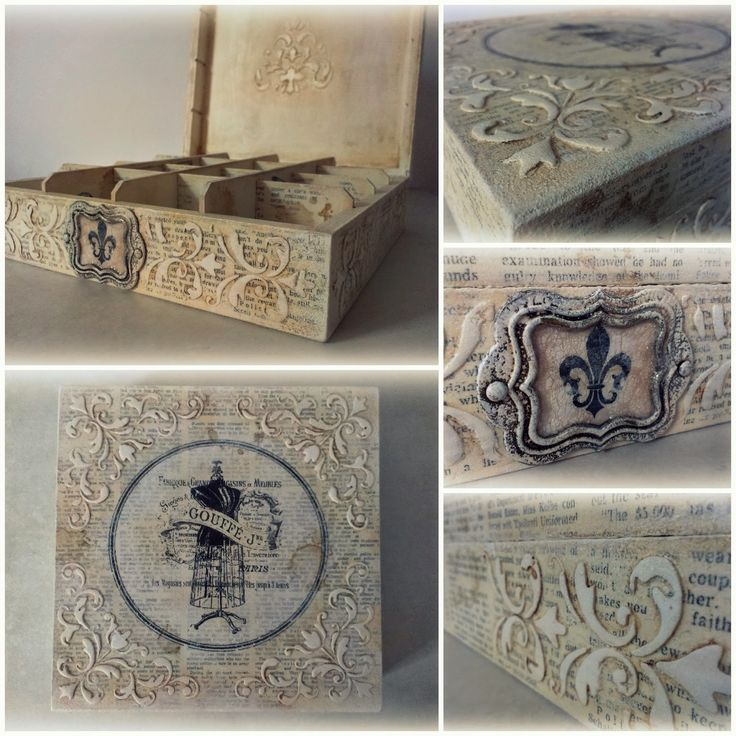 Galeria - Inspiracji - Magdy: Retro szkatułka przystrojona reliefami...