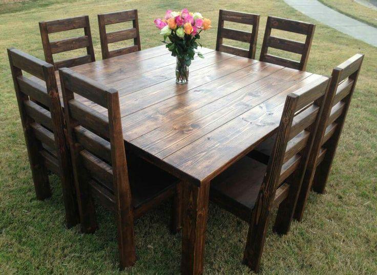 Square farmhouse table