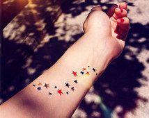 2pcs Star MIlky way colored temporary tattoo - InknArt Temporary Tattoo - wrist quote tattoo body sticker fakewedding tattoo small tattoo