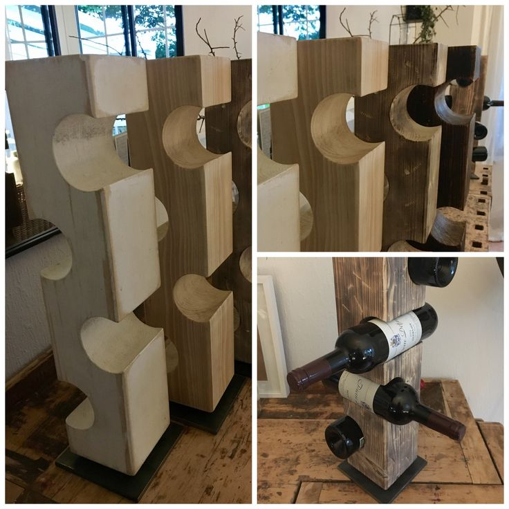 DIY Weinflaschenhalter / Holz / Upcycling/Holz altern lassen/ Dekoration/Regal/ Wood/Hammerschlaglack /Induytry