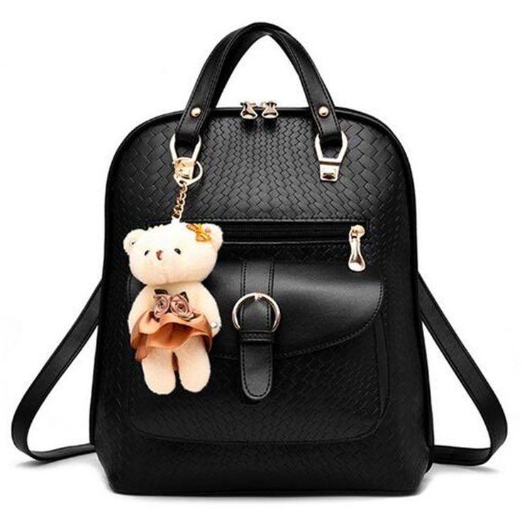 Women Backpack Travel Bag School Bags Leather Teenagers Girls Fashion Woman Girl