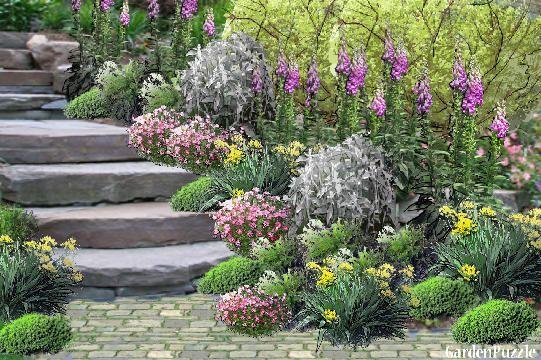 Garden Design Cottage Garden Stone Path Spring Garden
