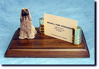 Afghan  Hound Business Card Holder