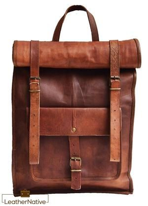 8f43ba384 High Quality/Fully Functional Unisex Handmade Goat Leather Retro Rucksack  backpack made from genuine, strong, lightweight, durable goat leather, ...