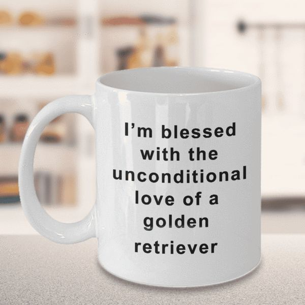 Golden Retriever Coffee Mug I'm Blessed With the Unconditional Love of a Golden Retriever Gifts for Women Men Tea Cup We create fun coffee mugs that are sure to please the recipient. Tired of boring gifts that don't last? Give a gift that will amuse them for years!A GIFT THEY WILL ADORE - Give them a mug to shout about
