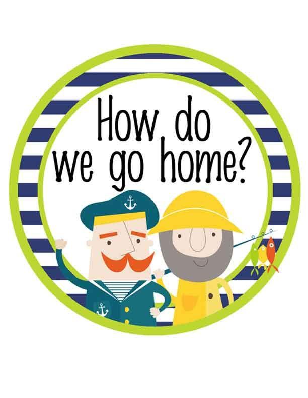 NAUTICAL lime - Clip Chart, HOW WE GO HOME, EDITABLE