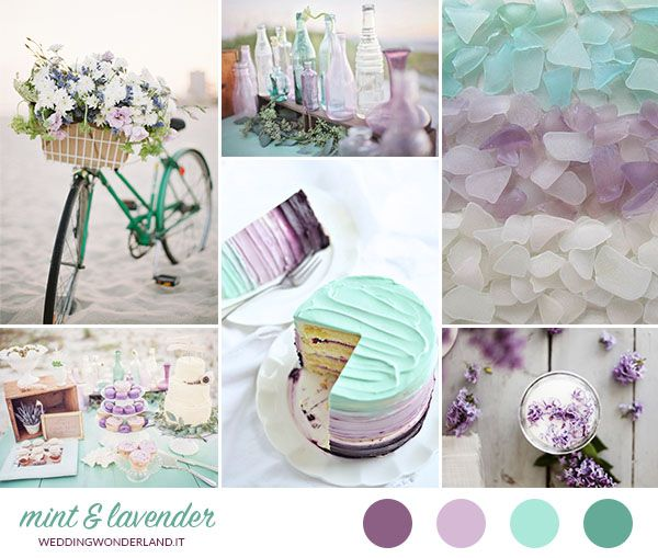Inspiration board: #mint and #lavender for a #wedding on the #beach