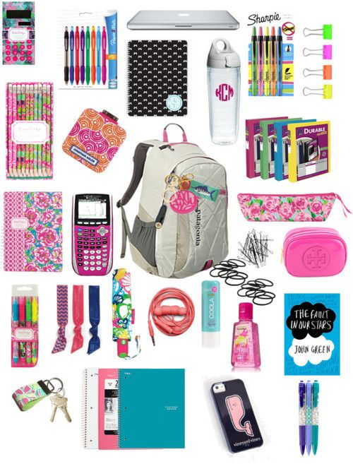 Inside My Book Bag Sorry I Like Making These Looks Pinterest School Back To And Supplies
