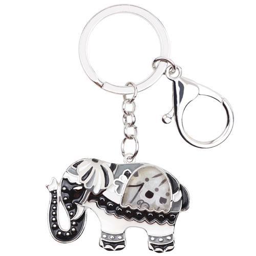 Enamel Elephant Key Chain Key Ring For Women Handbag Charm