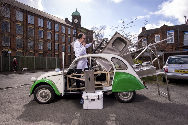 Here is the question! How do you get £25,000 of state of the art cooking kit into a #2CV? I guess you ask Martin Tye, head designer of the @2CVat70 & MD at @Gecanderson who has been tasked with this #design challenge. All will be revealed at @londonmotorshow in May #BuiltinBritain We have all planned already but would love to hear any bright ideas!!!