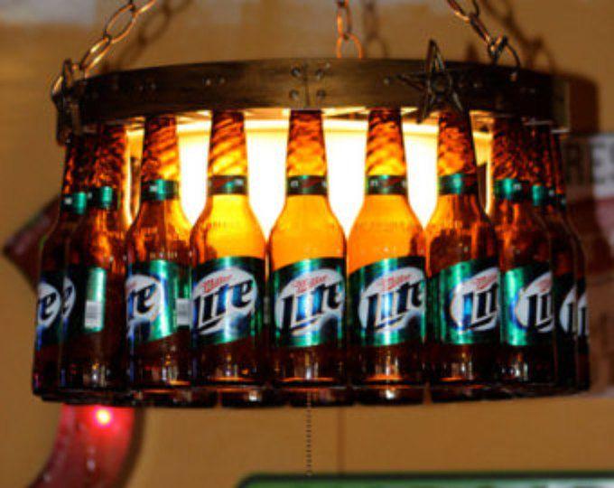 lmpara de botella cerveza con tapa de regulador y estrellas bierflasche kronleuchterbierflaschen leuchtenflaschenlampenbierflaschenbierflasche - Kronleuchter Bierflaschen