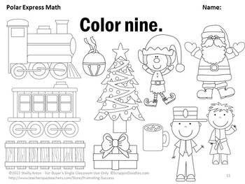 Free polar express math worksheets teacher alert polar for Polar express color pages