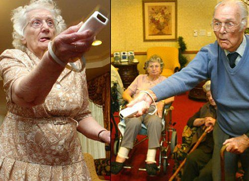 Wii sports.  This is so freaking awesome!  These retirees probably get more exercise than I do. LOL