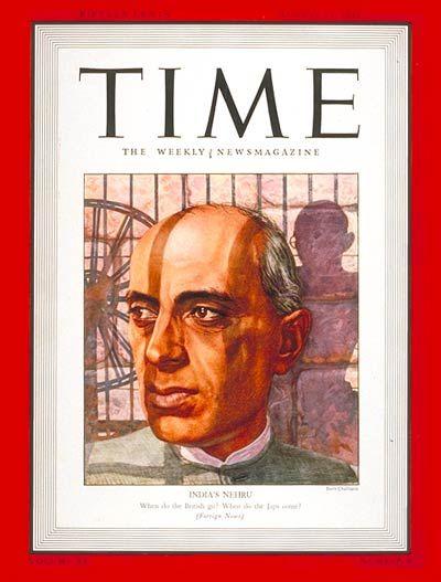 TIME Cover: Jawaharlal Nehru (Boris Chaliapin, 1942)