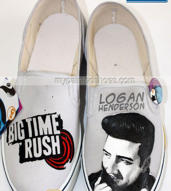 #Logan Henderson Shoes Logan Henderson Hand Painted Canvas Shoes