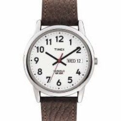 This Timex Men's Easy Reader T20041 is easy to read, stylish and most importantly a great, cheap watch: http://www.cheapism.com/cheap-watches/1418_timex_men_s_easy_reader_t20041