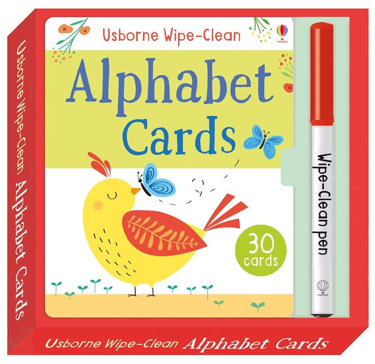 Wipe-clean alphabet cards New for November