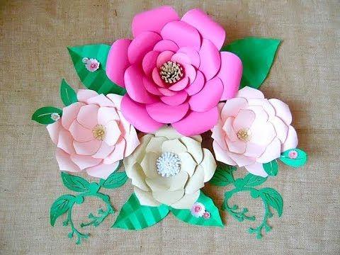 Large Backdrop Paper Flower Tutorial - YouTube