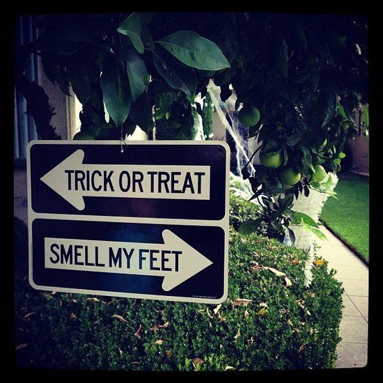 "Halloween sign - would be cute with other sayings too.... like ""witch way"" and"