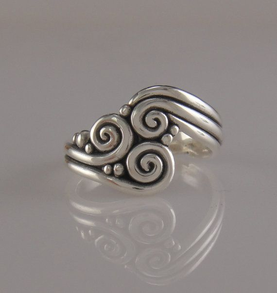 Whimsical Sterling Silver Ring One of a Kind by DenimAndDiaJewelry, $160.00