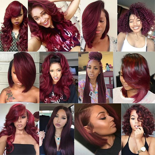 Burgundy Hair The Last Two Are So Cute Hairrr