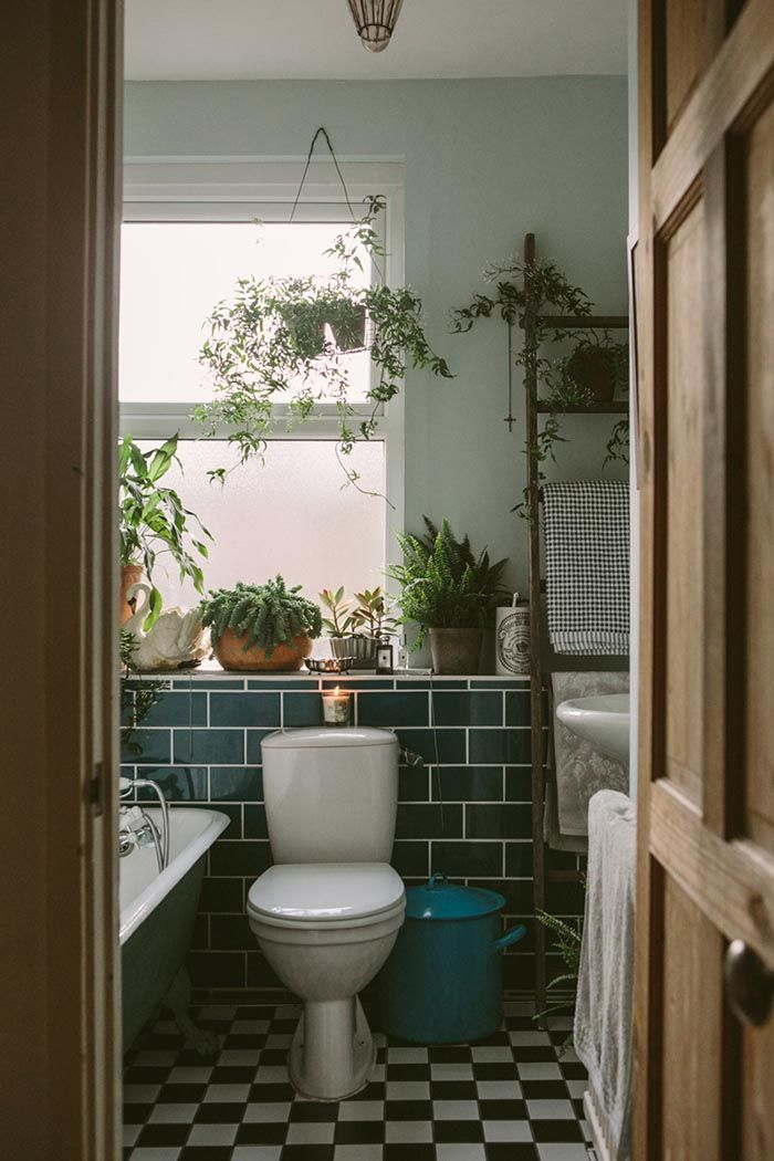 Plantie bathroom.