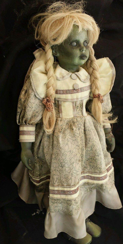 "28"" Haunted House Prop Baby Doll Halloween Vtg Horror"