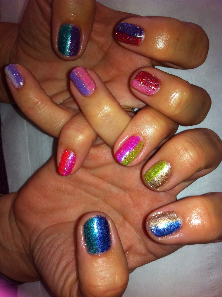 Rainbow glitters
