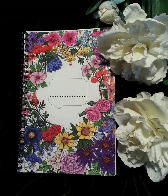 Beautiful notebook with flowers