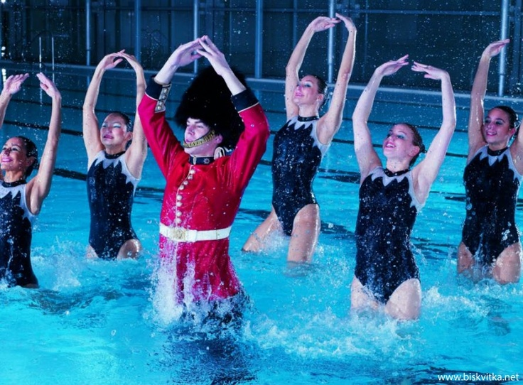 London Guard with synchronised swimmers prepare for Olympics