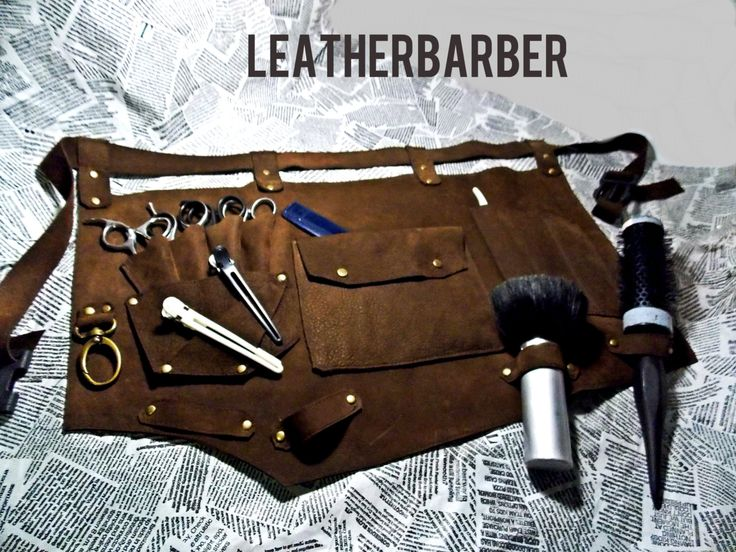 Free shipping+gif. Leather barber apron,barber gift,hairdressing belt by Leatherbarber on Etsy