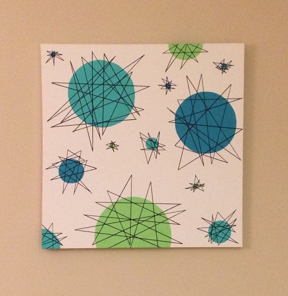 Mid Century Modern Atomic Geometric Wall By LobsterLadyCreations