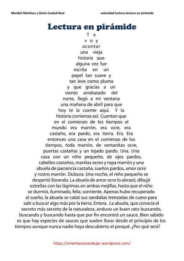 lectura en piramide ficha