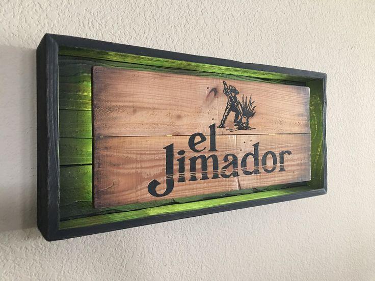 Rustic El Jimador Tequila signs by PRIMOBARS on Etsy