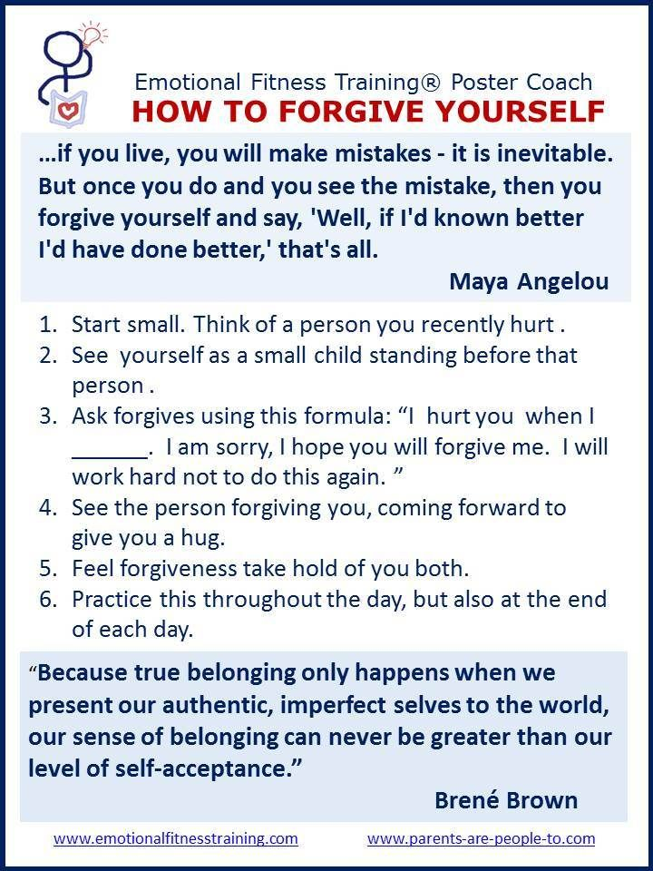 Forgiving yourself- this is beautiful. Doing this for the self is nearly parts work... meeting gestalt therapy. love